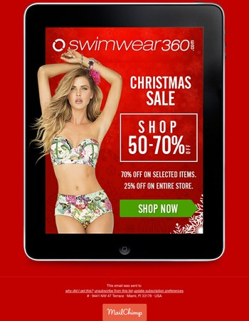 Christmas Sale in Swimwear360 | Up to 70% Off