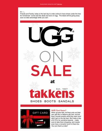 Last day to ship for Christmas - Ugg on Sale