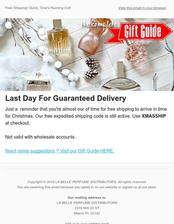 La Belle Perfume Distributors Newsletter