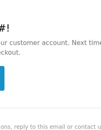 Customer account confirmation