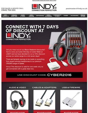 Cyber Week- Last 3 Days Of 10% Discount