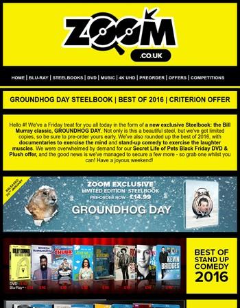 Zoom.co.uk: GROUNDHOG DAY STEELBOOK   BEST OF 2016   CRITERION OFFER