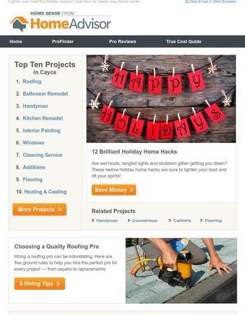 12 Holiday Home Hacks!