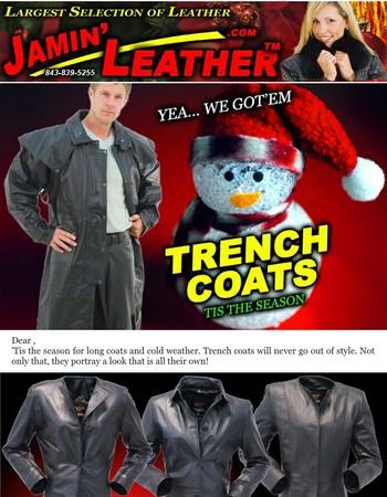 Yea...We Got'em! Trench Coats + FREE S/H