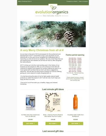 Merry Christmas from Evolution Organics