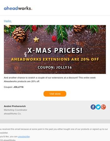 X-mas prices at Aheadworks