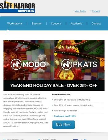 Over 25% Off MODO 10.2 + Select Plugins, Kits & Training