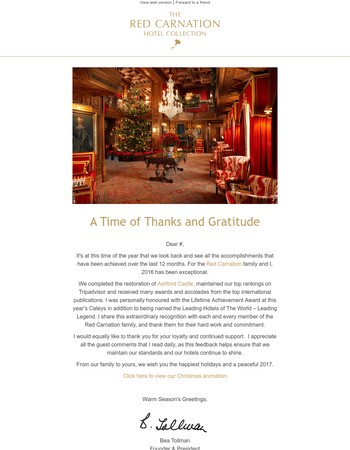 A Time of Thanks and Gratitude