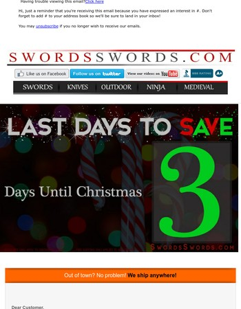 JOY TO THE WORLD, OUR 79% SALE HAS COME!
