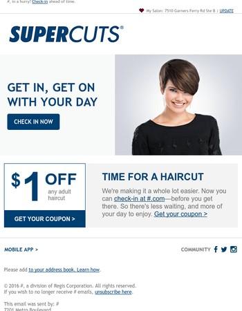 Save $1 on your next haircut