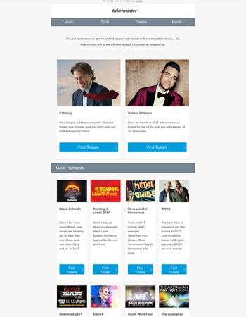 John Bishop, Robbie Williams plus much more…