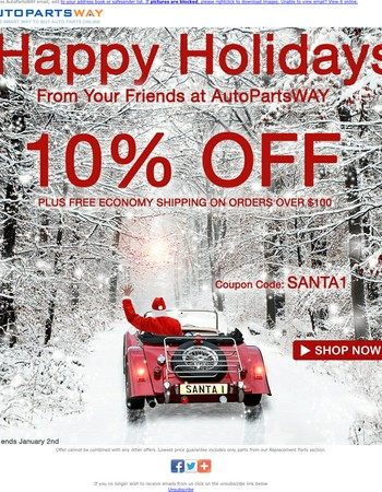 Happy Holidays from AutoPartsWAY.com