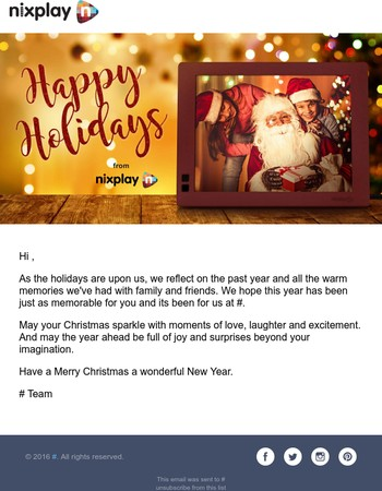 Happy Holidays from Nixplay