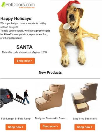 Holiday sale at PetDoors.com