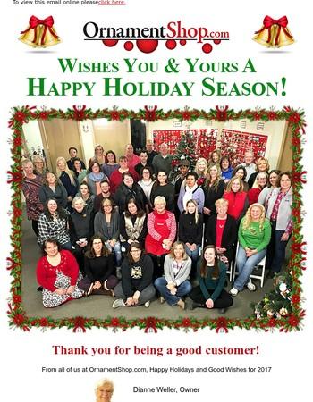 Happy Holidays from OrnamentShop.com!
