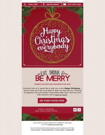 Wishing you a very merry, very tasty Christmas...