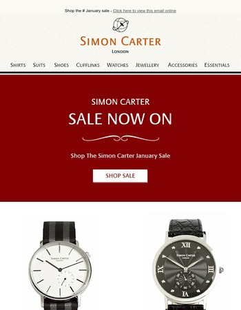 Simon Carter Sale Now On
