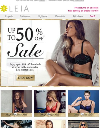 Enjoy up to 50% Off Hundreds of Styles...