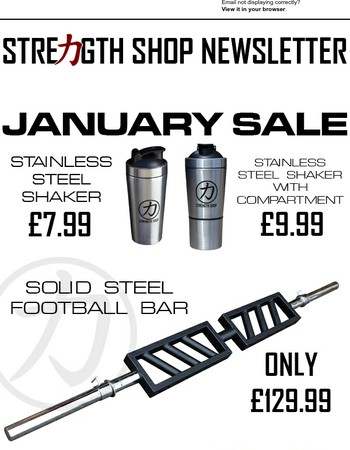 Strength Shop January Sale Now Live!