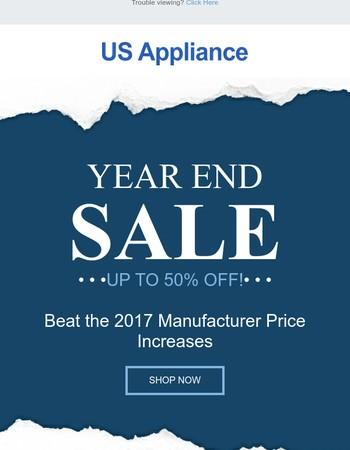 Year End Major Appliance Deals