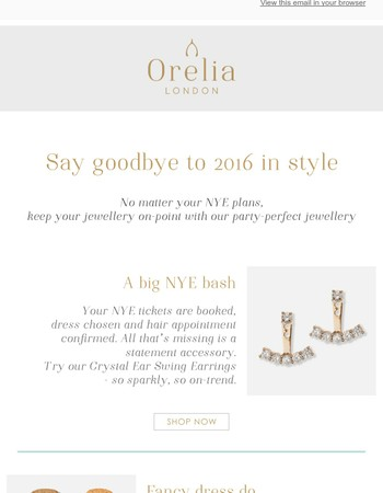 NYE jewellery inspo for celebrations big & small