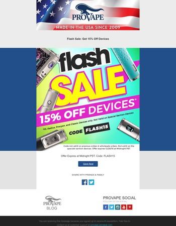 ➔ 15% Off Flash Sale is On
