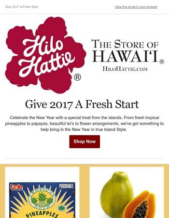 Give 2017 A Fresh Start, Island Style.