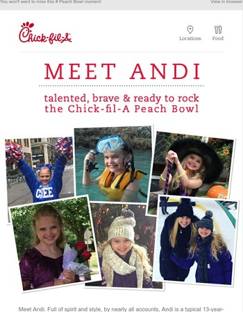 Introducing Andi: Spirited, stylish, and stealing the show at the Chick-fil-A Peach Bowl