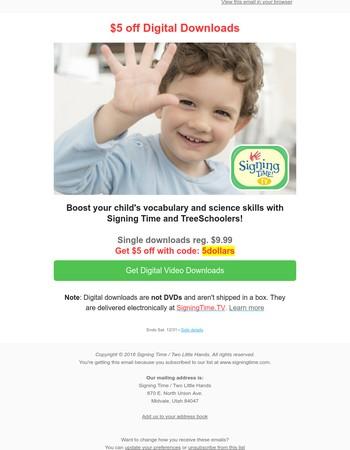 Last chance! $5 Digital Download Deal