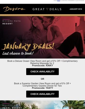 Desire's last call deals!