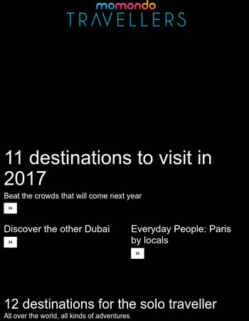 Travel HERE in 2017 – before everyone else!