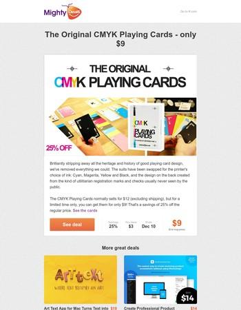 The Original CMYK Playing Cards