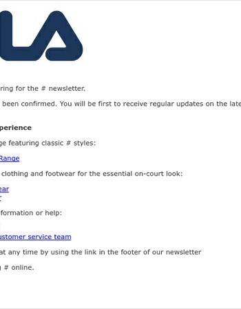 Thankyou for subscribing to our newsletter