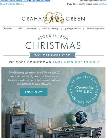 20% Off Ends Tonight   Great Stocking Filler Ideas   Graham & Green