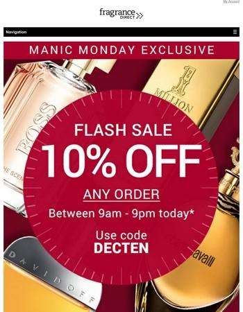 Manic Monday Flash Sale 9am till 9pm - Don't Miss Out!
