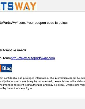 Your AutoPartsWay.com Coupon