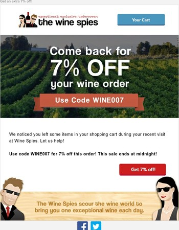 Your Shopping Cart at Wine Spies