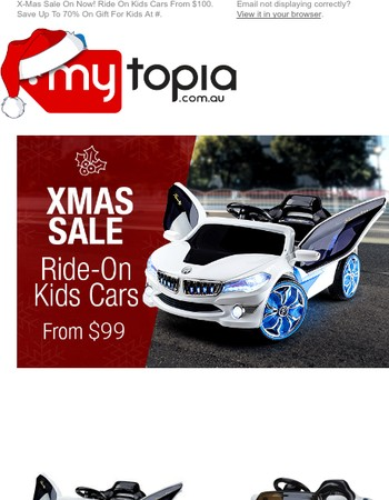 Ultimate Kids Ride-On Cars From $99. Sale On Now!