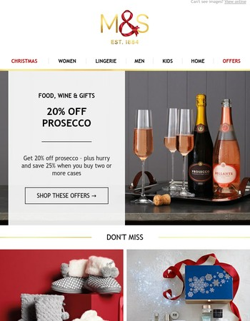 Save 20% on prosecco