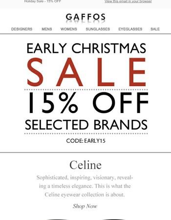Early Christmas Sale 15% Off Brands Like Celine, Prada, Dolce & Gabbana, Fendi