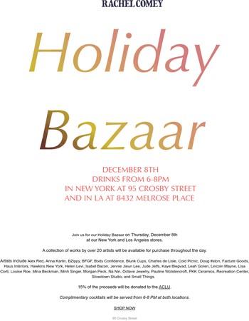 Holiday Bazaar this Thursday!