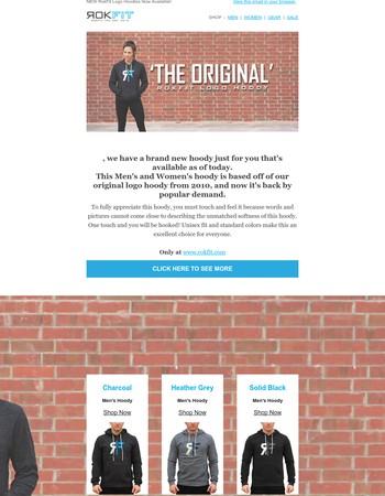 NEW Logo Hoody 'The Original' - Back by popular demand.