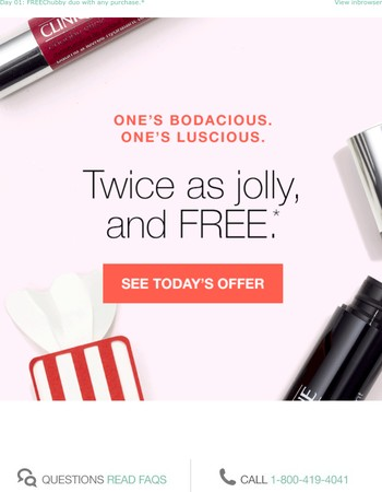 12 Days of FREE treats. Today, it's twice as jolly!