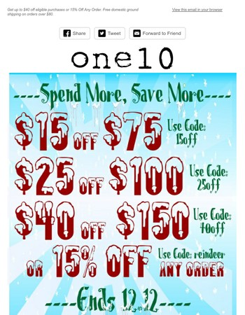 Spend More, Save More | Up to $40 Off