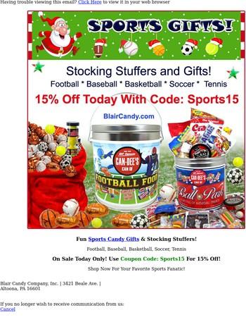 Sports Candy Gifts! Football, Baseball, Basketball & More!