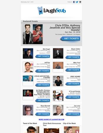 Chris D'Elia, Jay Leno, Bob Saget, & more