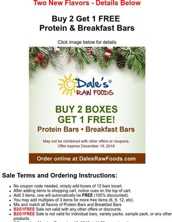 Buy 2 Get 1 FREE - Protein & Breakfast Bars