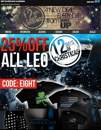 Day 8: LEO sale! 25% off