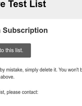 Magento Store Test List: Please Confirm Subscription