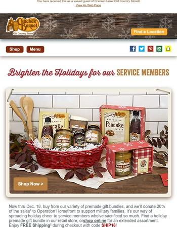 Cracker Barrel Old Country Store Newsletter